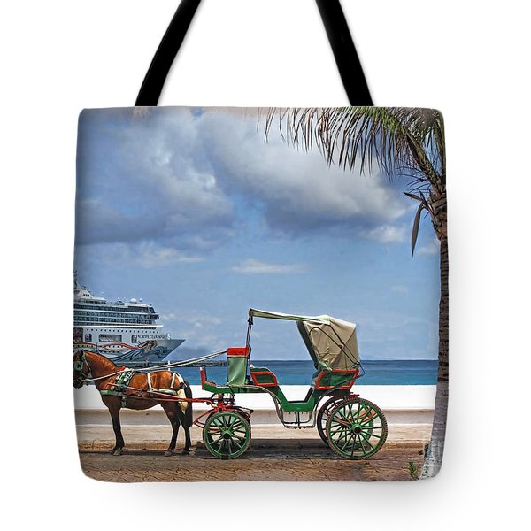Waiting For Customers Tote Bag by Joan  Minchak