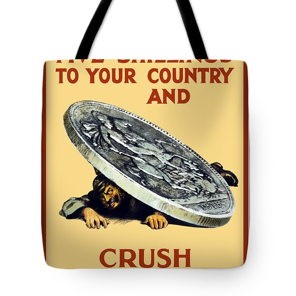 Crush The Germans Tote Bag by War Is Hell Store