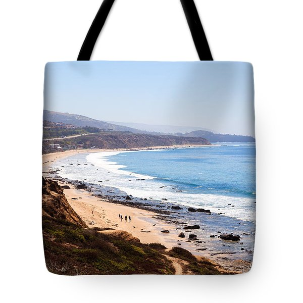 Crystal Cove Orange County California Tote Bag by Paul Velgos