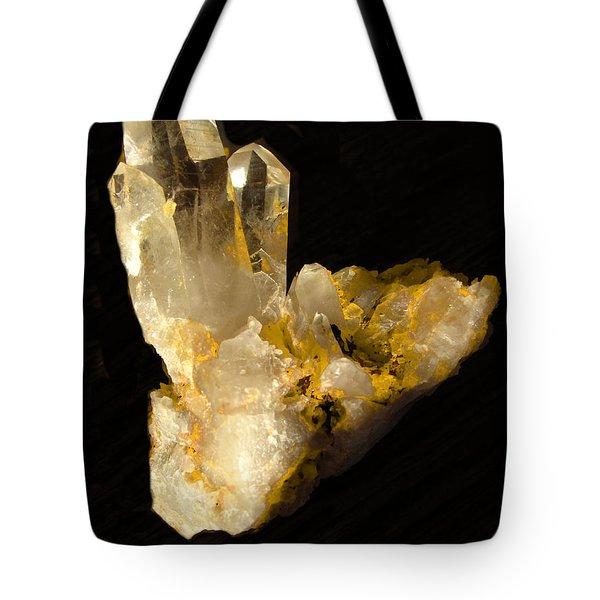 Crystal On Black Tote Bag by Joyce Dickens