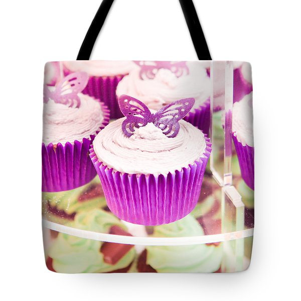Cup cakes Tote Bag by Tom Gowanlock