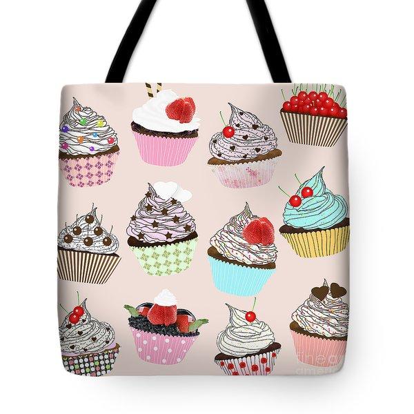 Cupcake  Tote Bag by Setsiri Silapasuwanchai