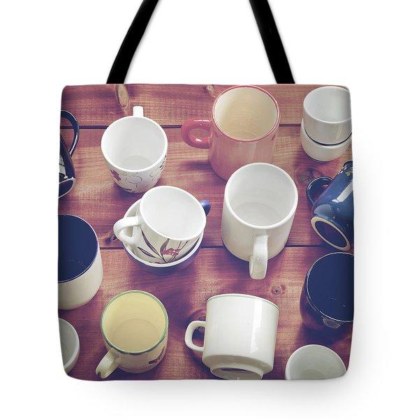 cups Tote Bag by Joana Kruse