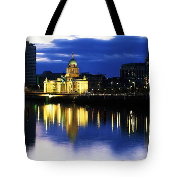 Customs House And Liberty Hall, River Tote Bag by The Irish Image Collection