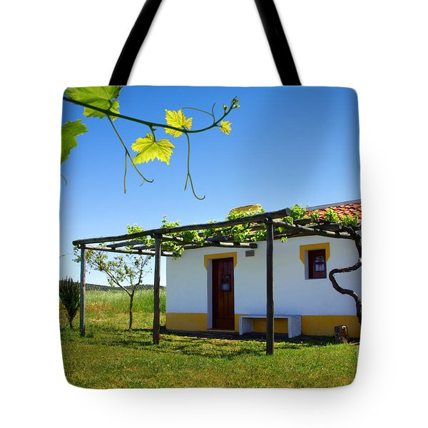 Cute House Tote Bag by Carlos Caetano