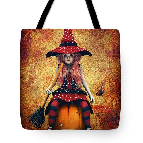 Cutest Little Witch Tote Bag by Jutta Maria Pusl