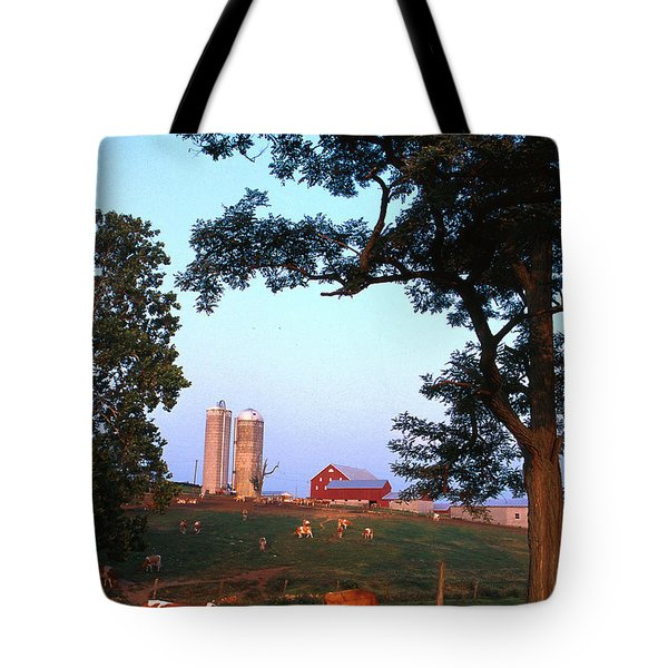 Dairy Farm Tote Bag by Photo Researchers