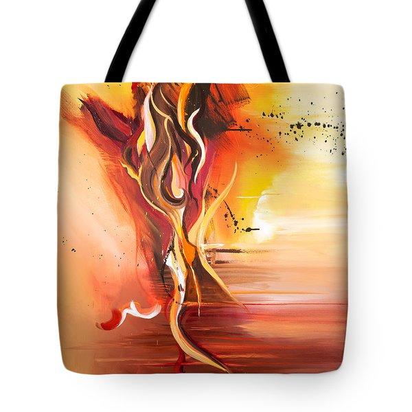 Dance Of Passion Tote Bag by Michelle Wiarda