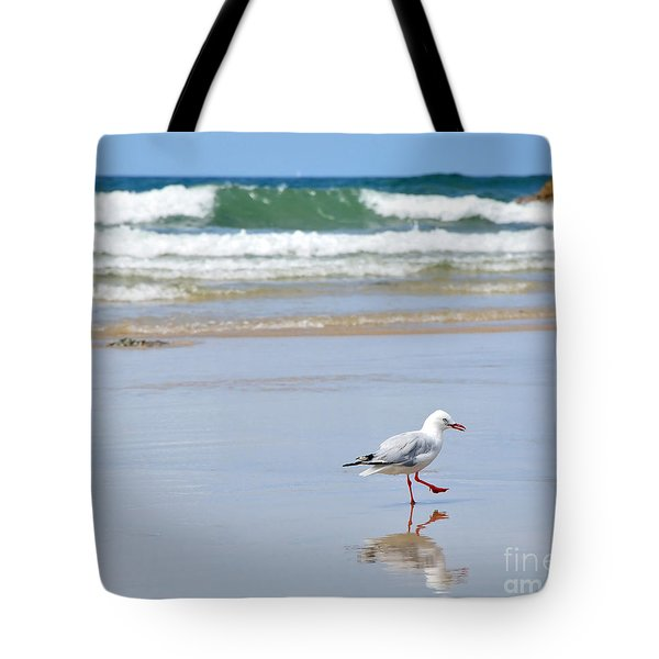 Dancing on the Beach Tote Bag by Kaye Menner