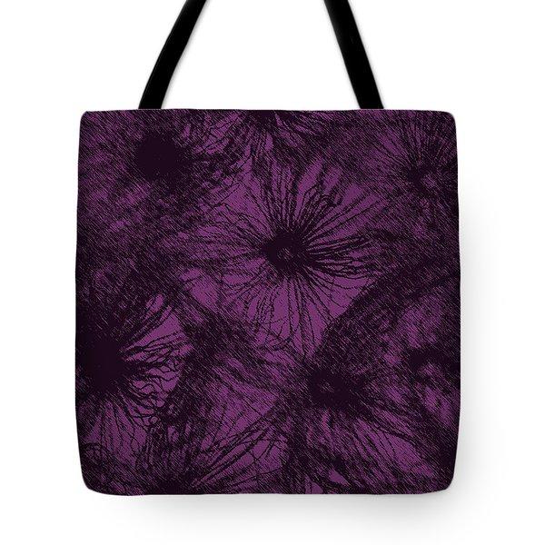 Dandelion Abstract Tote Bag by Ernie Echols