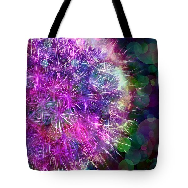 Dandelion Party Tote Bag by Judi Bagwell