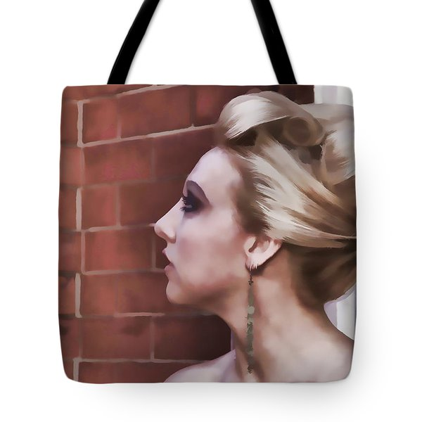 Dangling Earring Tote Bag by Alice Gipson