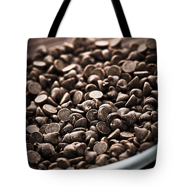 Dark chocolate chips Tote Bag by Elena Elisseeva