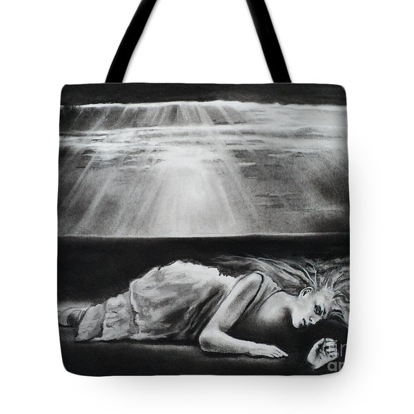 Darkness Falls Upon Me Tote Bag by Carla Carson