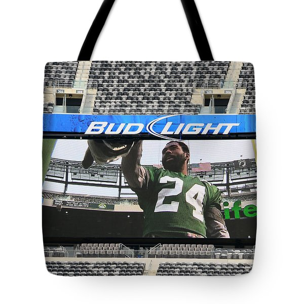 Darrelle Revis - Ny Jets Tote Bag by Paul Ward