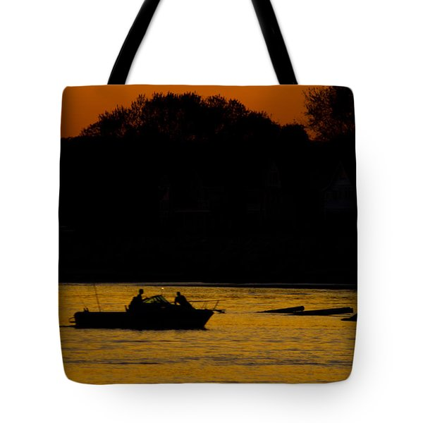 Day Of Fishing Is Over Tote Bag by Karol Livote