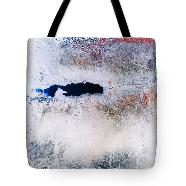 Dead Sea From Space Tote Bag by NASA / Science Source