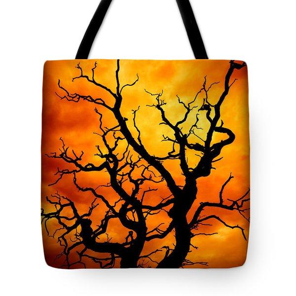dead tree Tote Bag by Meirion Matthias