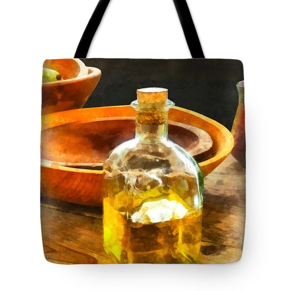 Decanter Of Oil Tote Bag by Susan Savad