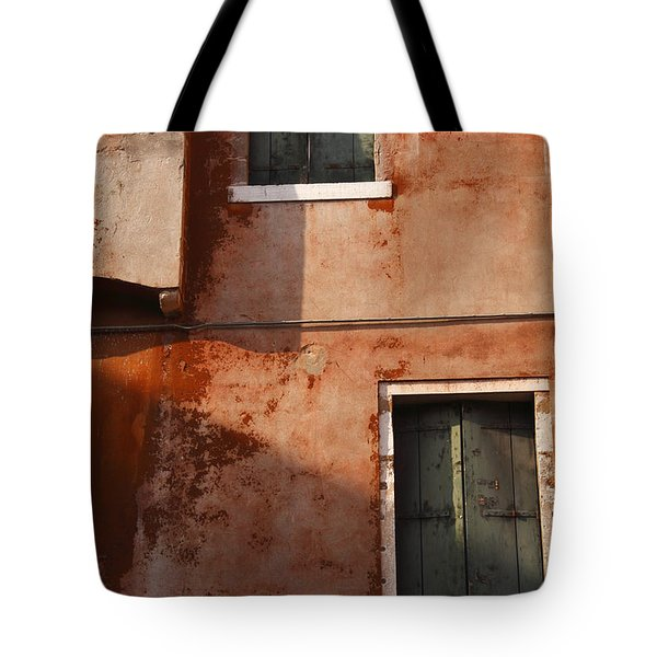 Decayed Facade Of A Building Venice Tote Bag by Trish Punch