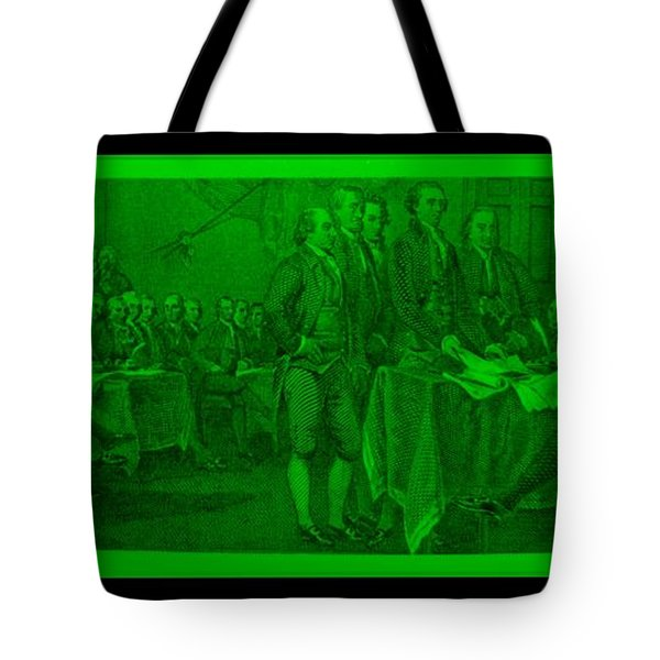 DECLARATION OF INDEPENDENCE in GREEN Tote Bag by ROB HANS