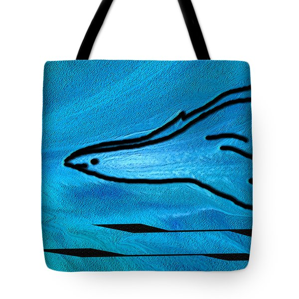 Deep Blue Tote Bag by Ben and Raisa Gertsberg