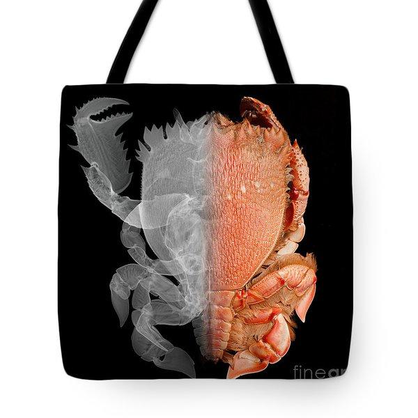 Deep Water Crab X-ray And Optical Image Tote Bag by Ted Kinsman