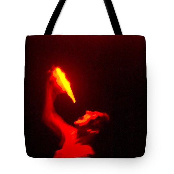 Demon Drinking Molten Lead Tote Bag by Douglas Barnett