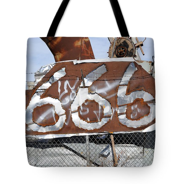 Demonic Humor at Industrial Site Haunted House Tote Bag by Gary Whitton