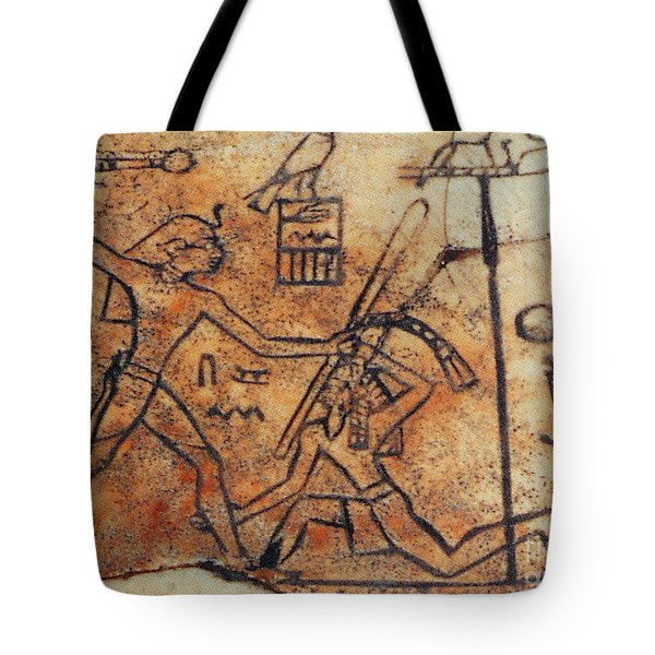Den Striking Down Asiatic Tribesman Tote Bag by Photo Researchers
