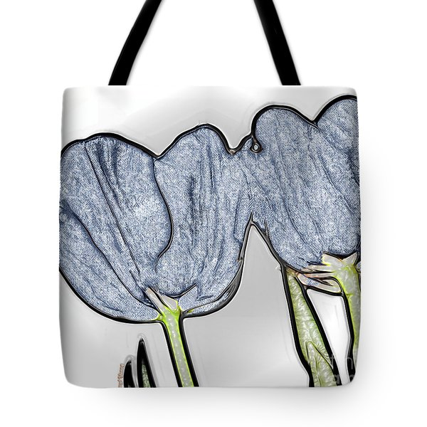 Denim Tulips Tote Bag by Cheryl Young