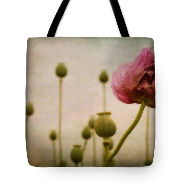 depth of poppy field Tote Bag by Priska Wettstein