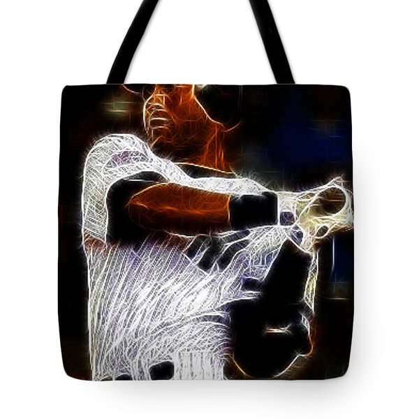 Derek Jeter New York Yankee Tote Bag by Paul Ward