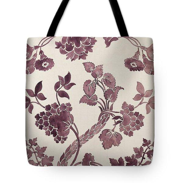 Design For A Silk Damask Tote Bag by Anna Maria Garthwaite