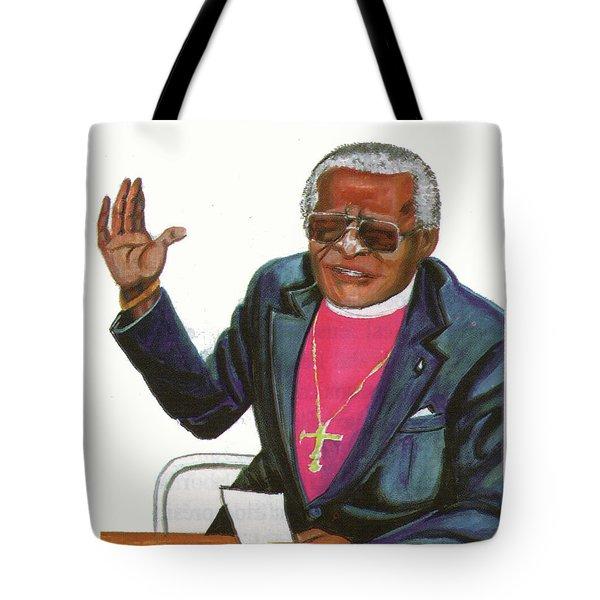Desmond Tutu Tote Bag by Emmanuel Baliyanga