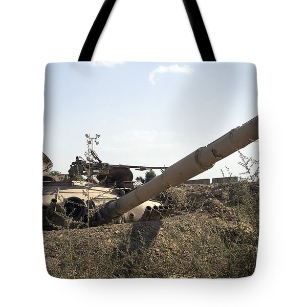 Destroyed Iraqi Tanks Near Camp Slayer Tote Bag by Terry Moore