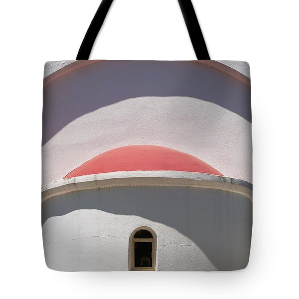 Detail Of Small Church Between Limnes Tote Bag by Axiom Photographic