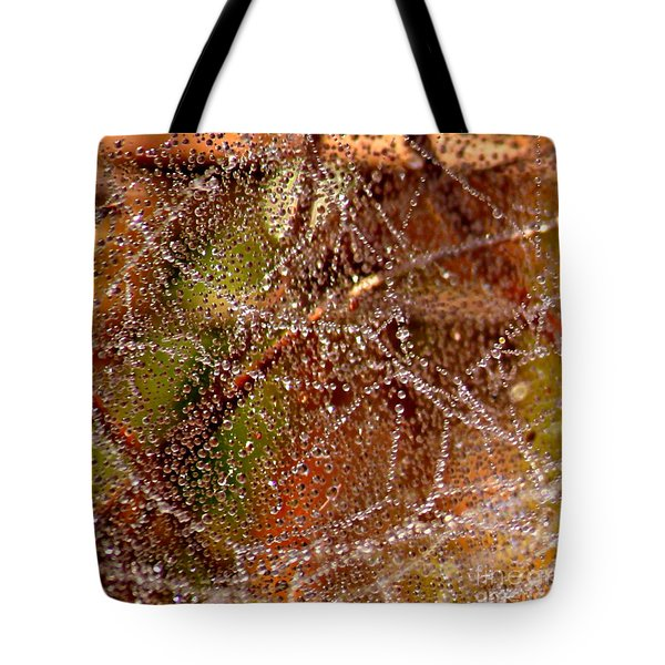 Dewdrops - Colorful Abstract Tote Bag by Carol Groenen