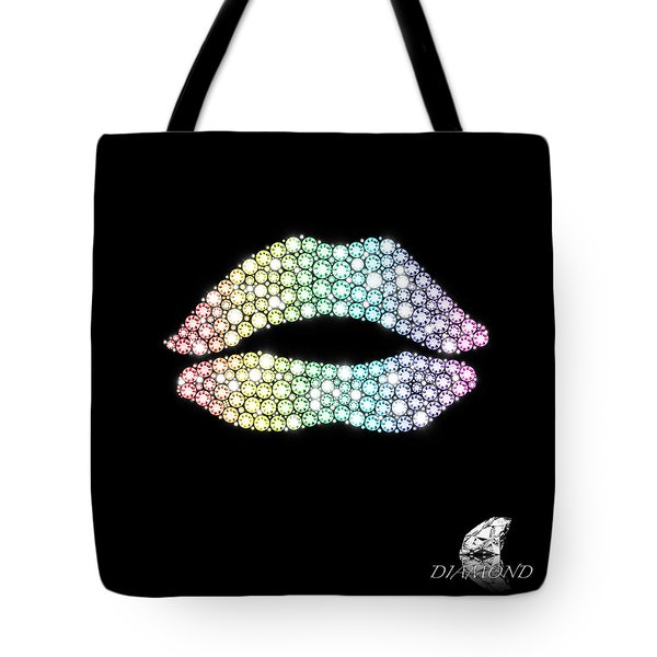 Diamond Lip Shape Tote Bag by Setsiri Silapasuwanchai