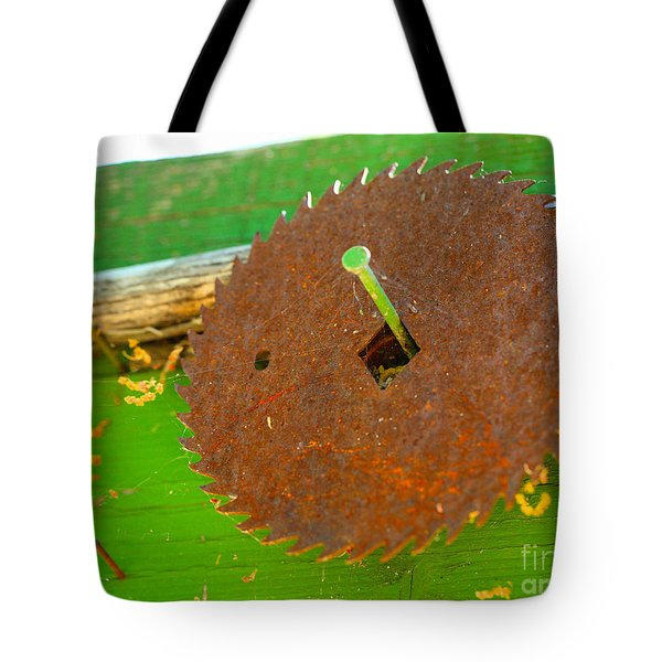 Diamond on a nail Tote Bag by Cheryl Young