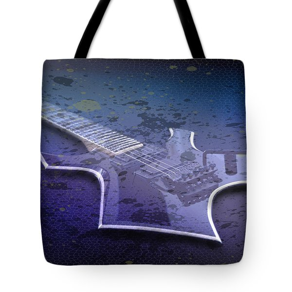 Digital-art E-guitar I Tote Bag by Melanie Viola