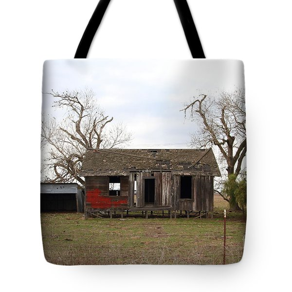 Dilapidated Old Farm House . 7d10341 Tote Bag by Wingsdomain Art and Photography