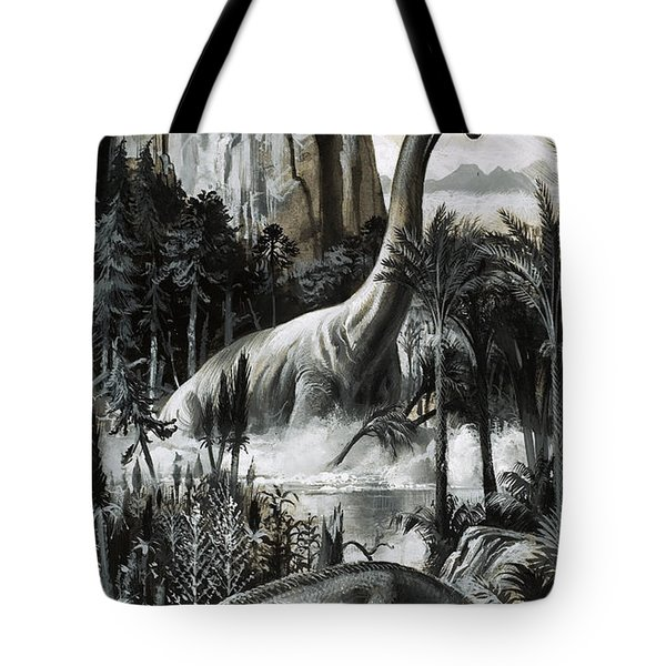 Dinosaurs Tote Bag by Roger Payne