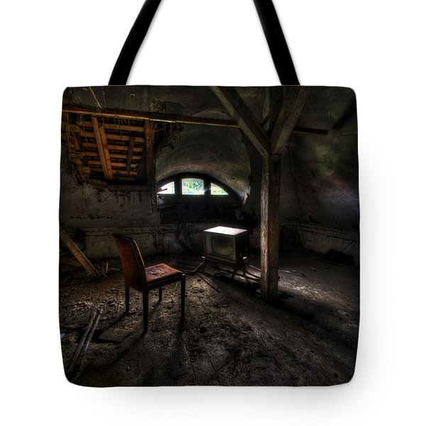 Dirty Tv Tote Bag by Nathan Wright