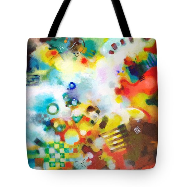 Dissolving Obstacles Tote Bag by Sally Trace