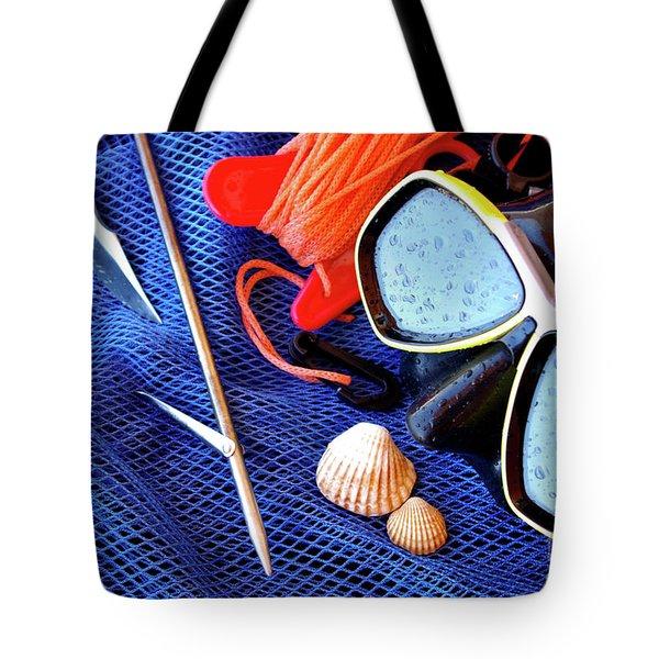 Dive Gear Tote Bag by Carlos Caetano