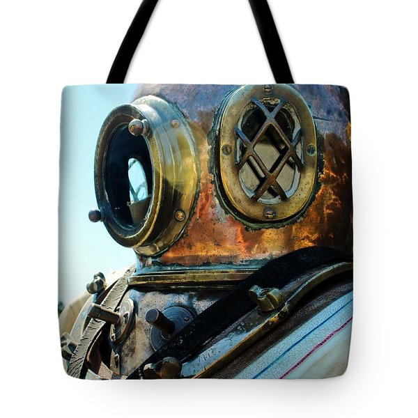 Dive Helmet Tote Bag by Rene Triay Photography