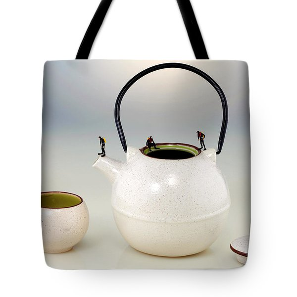 Diving On Tea Pot And Cup Tote Bag by Paul Ge