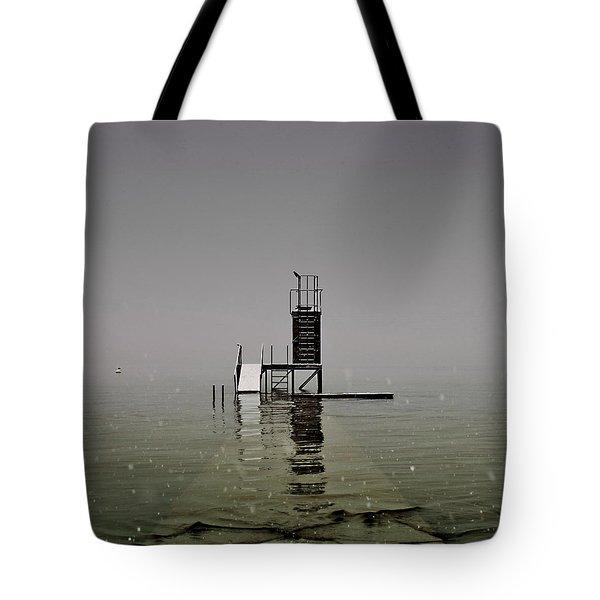 diving platform Tote Bag by Joana Kruse