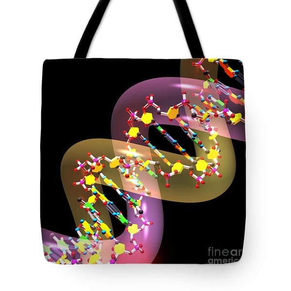 Dna 38 Tote Bag by Russell Kightley